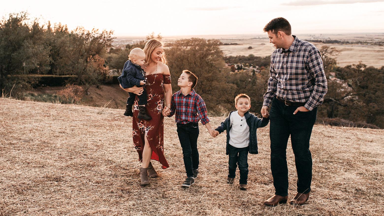 Erin Skinner, with family